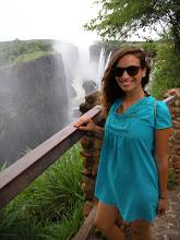 Tess at Victoria Falls