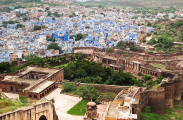 View of Jodhpur from the high walls of Mehrangarh  Photo Credit: Incredible India